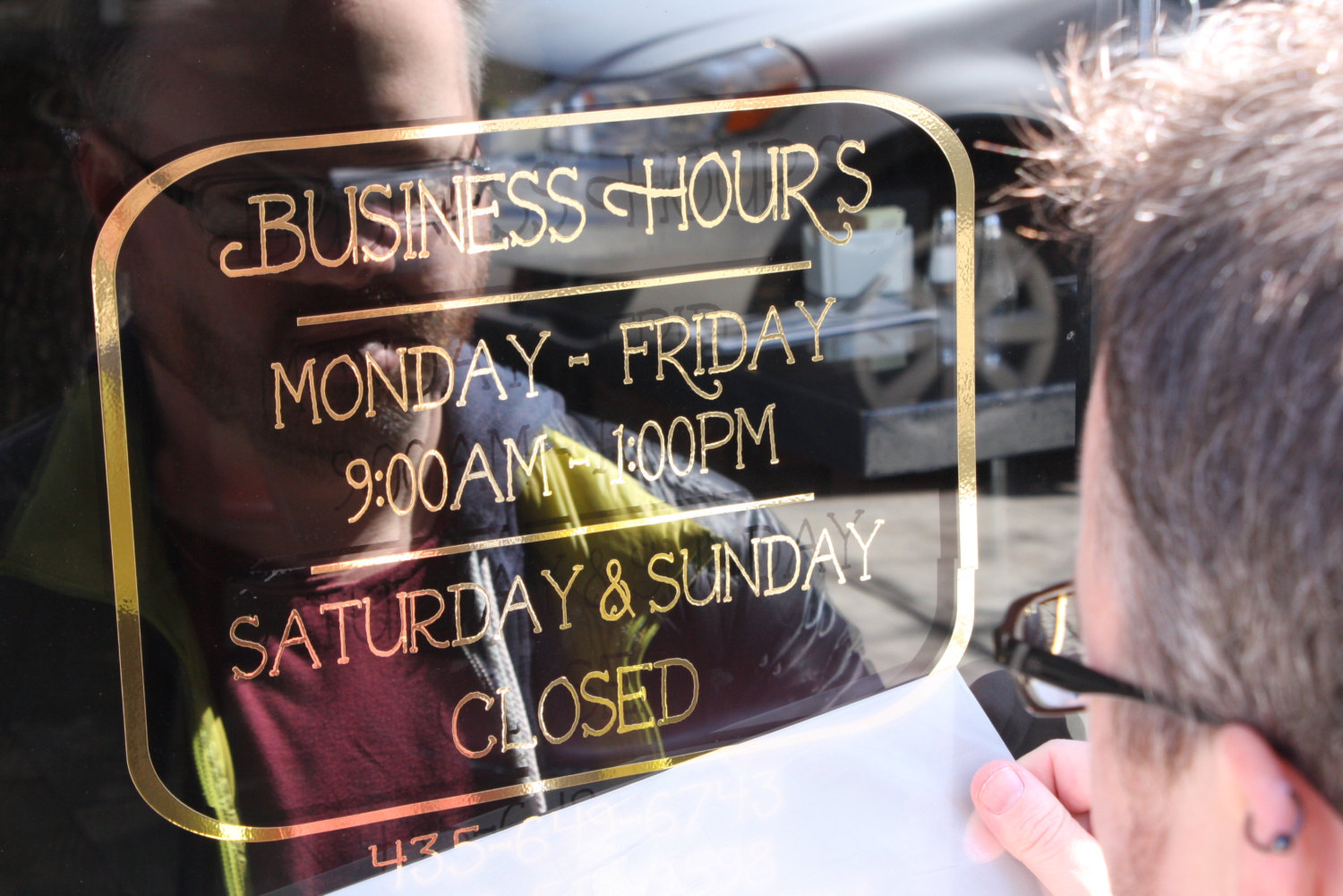 Hours Of Operation Signs By Verida Signs Monterey Seaside - Window stickers for business hours